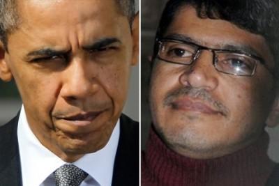Presidente Obama e o jornalista iemenita Abdulelah Haider Shaye