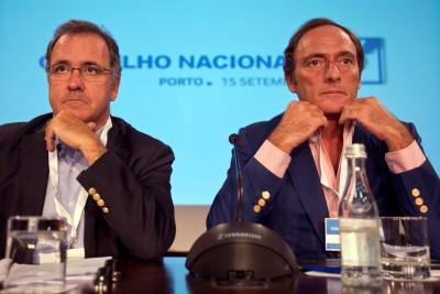 António Pires de Lima e Paulo Portas contradizem o programa eleitoral do CDS de 2011 que defendia claramente a descida da TSU para relançar a economia. Foto de Ricardo Castelo/LUSA.