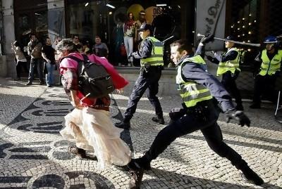 Agressões da PSP no Chiado - 22 de março de 2012