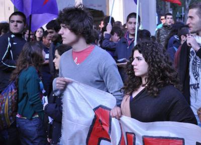 Vasco e Laura, os jovens agredidos pela polícia em Lisboa. Foto  João Galamba