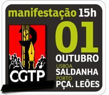 Manifestação nacional da CGTP - 1 de Outubro em Lisboa e no Porto