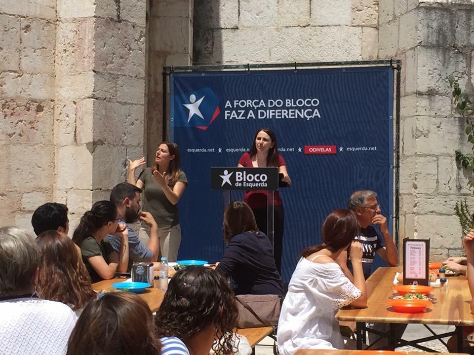 Cláudia Elias, candidata à Assembleia Municipal de Odivelas. Foto esquerda.net.