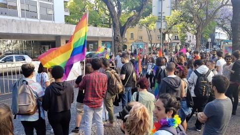 Protesto #EscolaSemHomofobia em Lisboa.