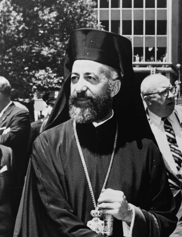 Arcebispo Makarios, presidente do Chipre eleito em 1959