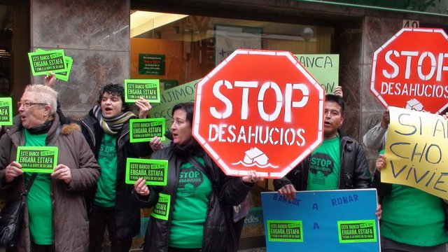 Manifestação da Plataforma dos Afectados pela Hipoteca (PAH), em Espanha