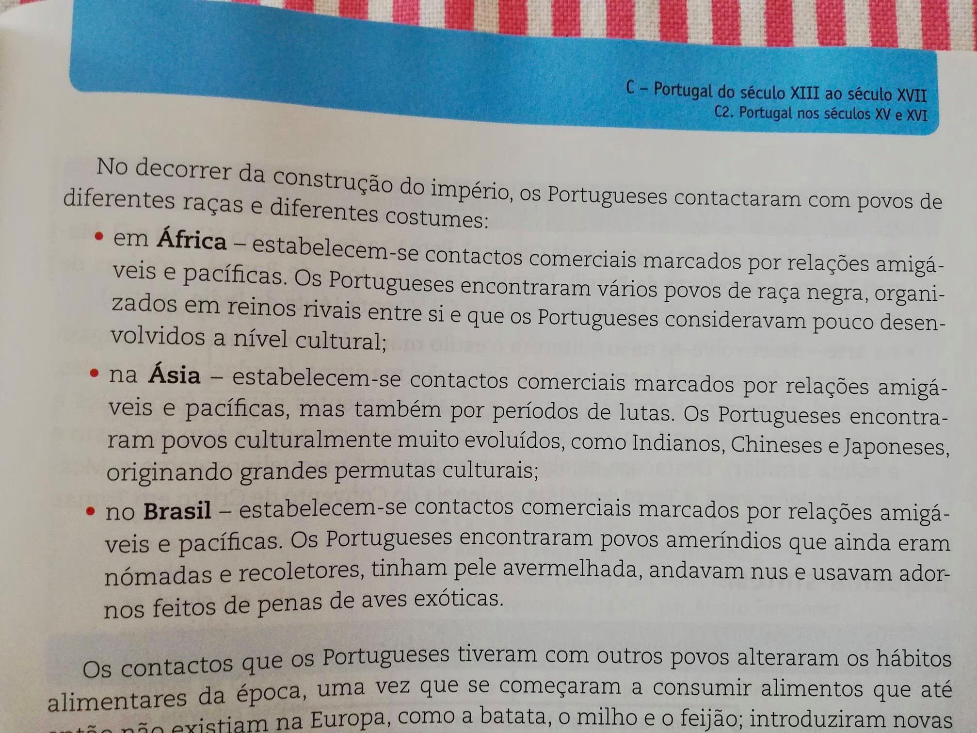 Excerto do manual de apoio às provas de aferição d Porto Editora