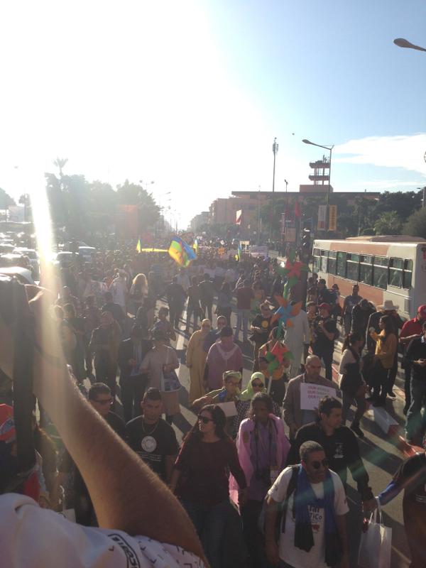 Segundo a Coligação pela Justiça Climática, foram mais de 5.000 os presentes na marcha