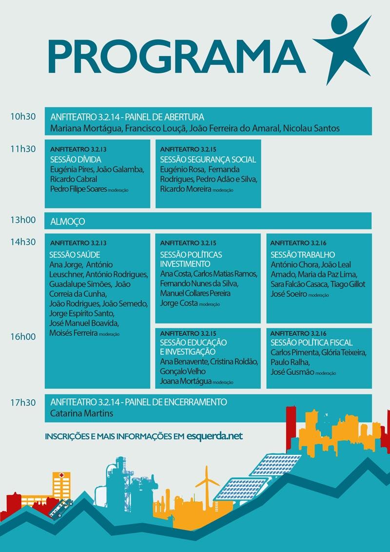 """Programa da Conferência """"Que Orçamento para Portugal?"""""""