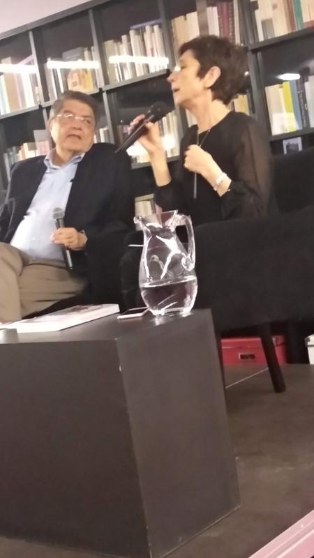 Sergio Ramírez e Pilar del Rio na Fundação Saramago