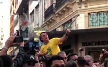 Bolsonaro quando foi esfaqueado