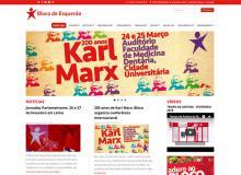 Página do Bloco na internet