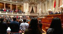 Parlamento vota por unanimidade voto de pesar por Marielle Franco.