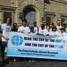 Movimento  Católico Global pelo Clima que defende o desinvestimento  em empresas ligadas à exploração de combustíveis fósseis