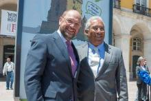 Martin Schulz e António Costa. Foto de PES.