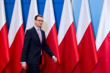 Primeiro-ministro polaco, Mateusz Morawiecki. Foto de Kancelaria Premiera, Flickr.