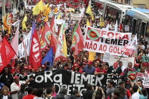 Manifestações em São Paulo contra Michel Temer. Foto de Sebastiao Moreira/EPA/Lusa