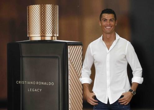 Cristiano Ronaldo no lançamento de um perfume com o seu nome, em setembro, em Madrid.