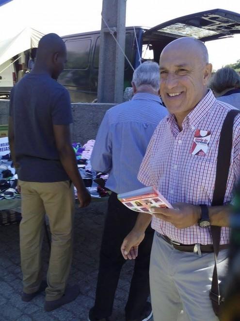 Jorge Mendes numa ação de campanha das últimas eleições legislativas
