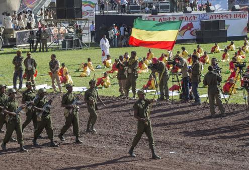 Celebração do 40º aniversário do TPLF em 2015. Foto de Paul Kagame/Flickr.