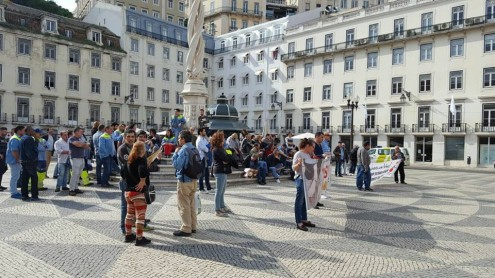 Protesto contra a precariedade nas autarquias de Lisboa
