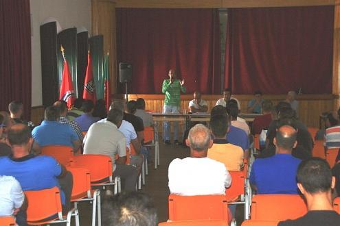 Plenário de trabalhadores da Somincor.