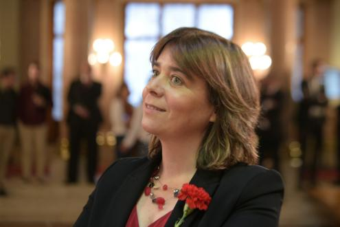 Catarina Martins no Parlamento, 25 de Abril de 2019. Foto de Paula Nunes.