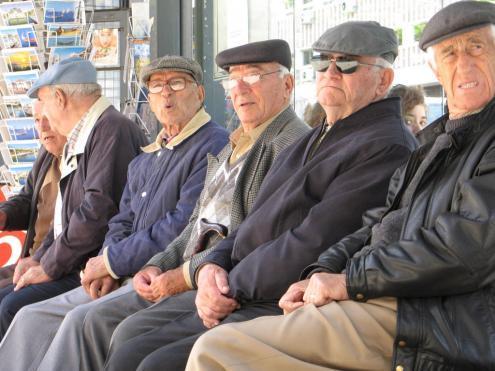 Pensionistas. Foto de Paulete Matos.