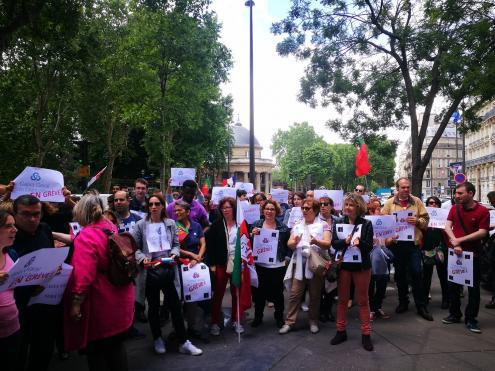 Trabalhadores da CGD Paris manifestam-se na oitava semana de greve