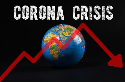 Crise do Corona. Ilustração de Jernej Furman/Flickr.