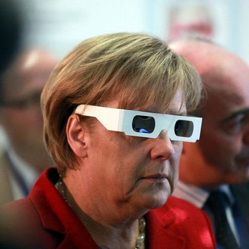 """Angela Merkel: na sua visão, não há """"automatismos"""" nos resultados das eleições europeias. Foto de Armin Kübelbeck"""