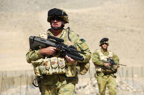 Soldados australianos no Afeganistão.