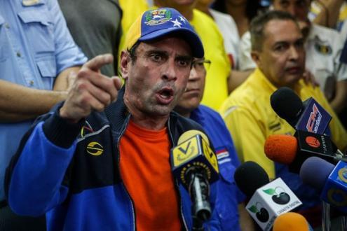 Henrique Capriles, candidato a presidente da Venezuela em 2013, dirigente da oposição de direita (MUD) e do partido de direita, Primero Justicia