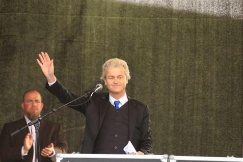 Geert Wilders, líder do partido holandês de extrema-direita da Holanda - Partido pela Liberdade (PVV)