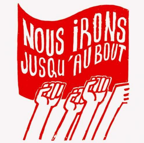 """""""Iremos até ao fim"""" Cartaz de Maio 68"""