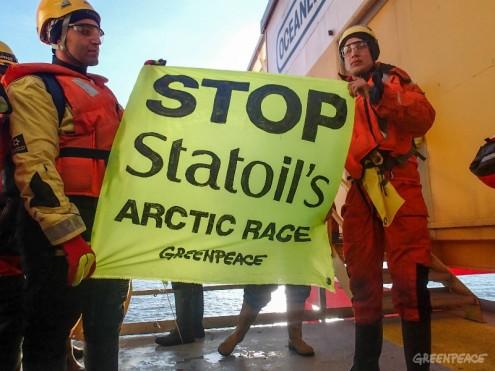 Ação da Greenpeace em maio de 2014 - Foto da Greenpeace