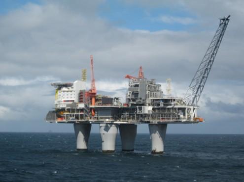 Plataforma de exploração petrolífera, Troll, Noruega - Foto wikimedia