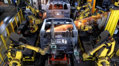 Robôs industriais em Guangdong, China