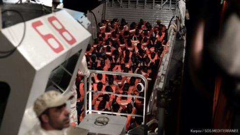 Barco Aquarius, 10 de junho de 2018 – foto da página do twitter de MSF_Sea