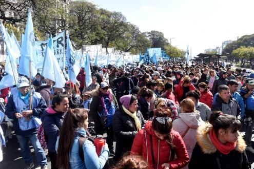 Protesto em Buenos Aires em setembro de 2019. Foto de EPA/Fabian Mattiazzi, Agência Lusa.
