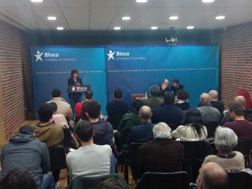 """Catarina Martins frisou em Aveiro que o aumento das pensões """"é seguramente um passo importantíssimo de decência e respeito"""" e """"é também uma medida social importantíssima"""""""