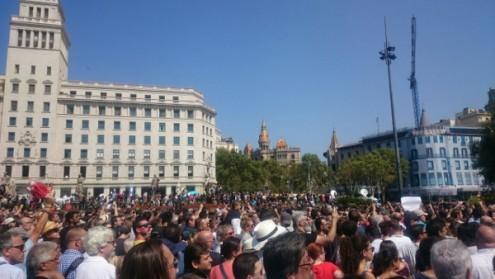 Minuto de silêncio em Barcelona