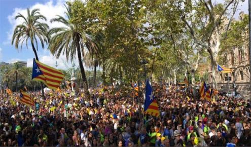 Referendo na Catalunha causa