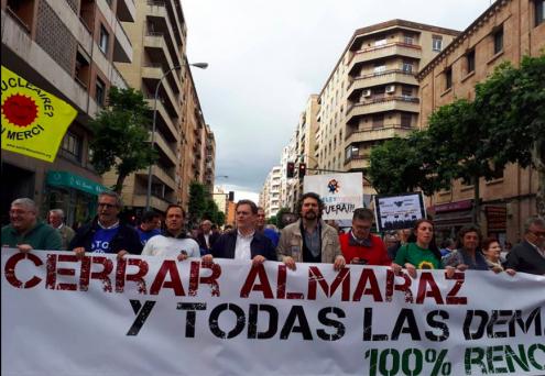 Protesto contra a central nuclear de Almaraz, Salamanca.