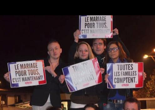 """""""O casamento p+ara todos é agora"""": manifestação em França"""