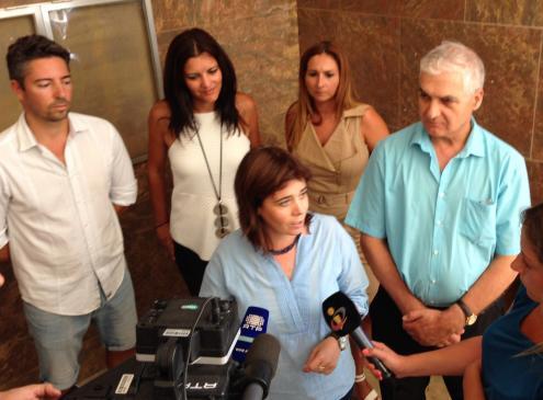 Catarina Martins, ao lado de João Vasconcelos (à direita): Bloco quer manter uma representação importante no Algarve. Foto de Paulete Matos