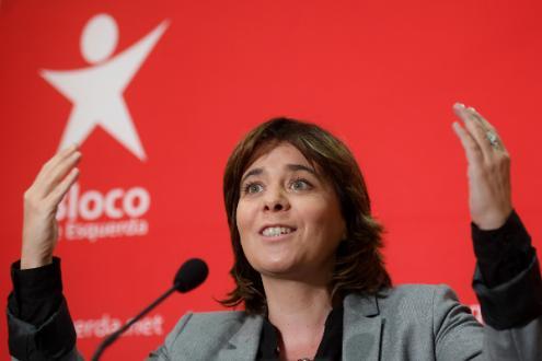 Catarina Martins criticou o Governo devido à forma como está a ser feita a consolidação orçamental – Foto Hugo Delgado/Lusa