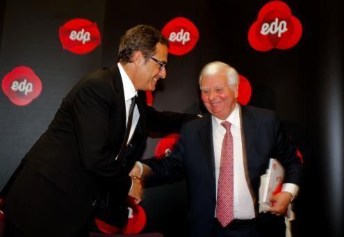 Eduardo Catroga e António Mexia, foto de José Sena Goulão/Lusa (arquivo)