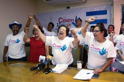 Conferência de imprensa do Centro Nicaraguense de Direitos Humanos, dada pela sua presidente Vilma Núñez, 13 de dezembro de 2018