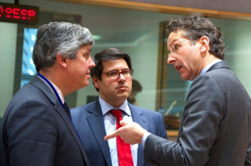 Mário Centeno, Mourinho Félix e Jeroen Dijsselbloem