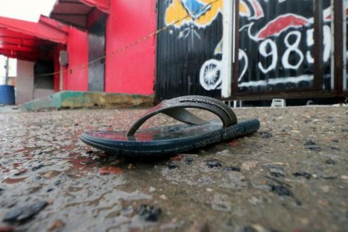 """A """"chacina do Ceará"""" já é a maior ocorrida no Estado, e supera a emblemática matança de junho de 1993 na praça da Candelária, no Rio de Janeiro – Foto do local da chacina"""